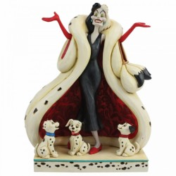 Figura de Cruella De Vil, 101 Dálmatas Disney Traditions by Jim Shore