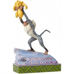 Figura Rafiki y Bebé Simba, El Rey León, Disney Traditions by Jim Shore