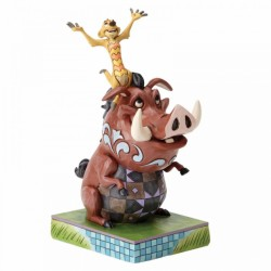 Figura de Timón y Pumba, El Rey León, Disney Traditions by Jim Shore