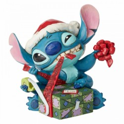 Figura de Stitch en Navidad, Lilo y Stitch, Disney Traditions by Jim Shore