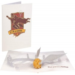 Tarjeta 3D Snitch Dorada, POP-UP, Harry Potter
