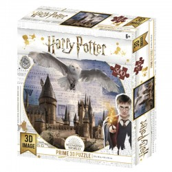 Puzzle lenticular Harry Potter, Hedwig y Hogwarts 500 piezas