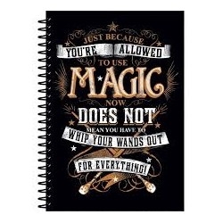 Libreta Espiral magia, Harry Potter