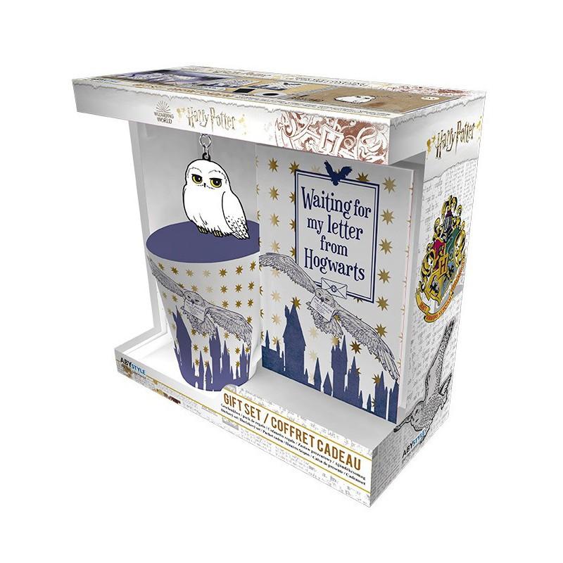 Pack de Regalo Harry Potter, Taza + Libreta y Llavero