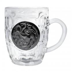 Jarra Targaryen de Cristal y Escudo Metálico, Juego de Tronos
