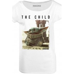 Camiseta Baby Yoda chica, The Mandalorian