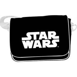 Bandolera Logo Star Wars, blanco y negro