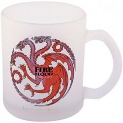 Taza Targaryen de vidrio translucido Juego de Tronos