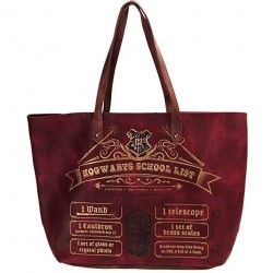 Bolso Tote Hogwarts School List, Harry Potter