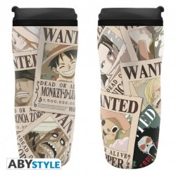 Vaso de viaje One Piece Wanted 355 ml