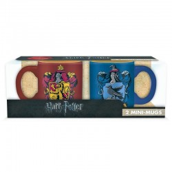 Set mini tazas Gryffindor y Ravenclaw 110ml