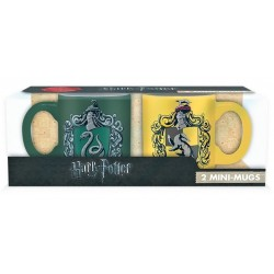 Set mini tazas Slytherin y Hufflepuff 110 ml