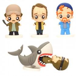 Set 4 figuras Tiburón, Pokis 6cm