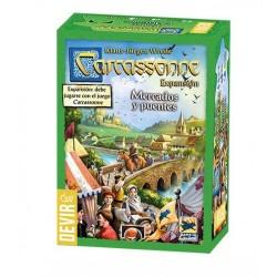 Carcassonne mercados y puentes, juego de mesa