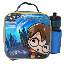 Bolso portaalimentos y botella Harry Potter Chibi
