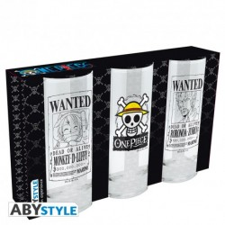 Set 3 vasos, One Piece