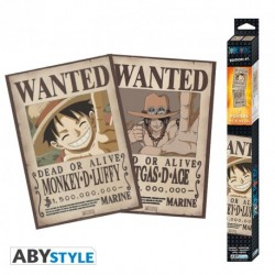 Set 2 posters One Piece Wanted Luffy & Ace