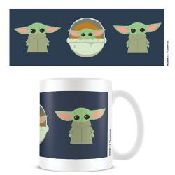 Taza Baby Yoda, estilo Chibi