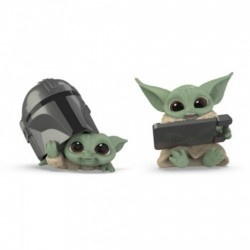 Pack Baby Yoda figuritas, casco y teclado, The Mandalorian